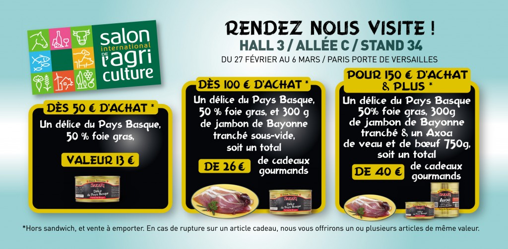 Retrouvez nous paris au salon de l 39 agriculture du 27 for Porte v salon de l agriculture